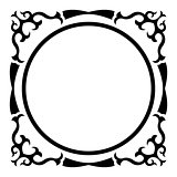 Round frame with vintage corner