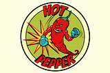 emblem strong red pepper, spicy taste