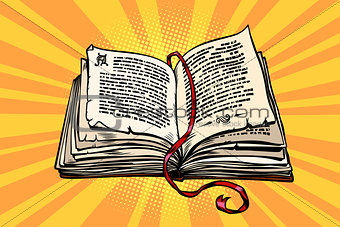 ancient book, religion, fairy tale and literature