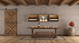 Dining room in rustic style