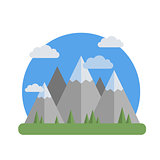 Mountains flat design