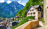 Hallstatt Austria vintage architecture and old houses