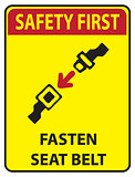 Safety first - Fasten seat belt