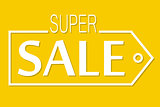 Super sale, discount banner