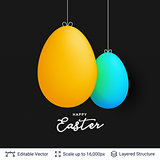 Easter background template.