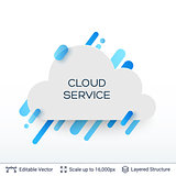 White badge cloud service sticker.