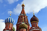 Saint Basil Cathedral on Red Square in Moscow, Russia