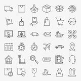 Delivery Line Icons Set
