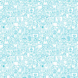 Delivery White Line Seamless Pattern