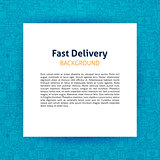 Fast Delivery Paper Template