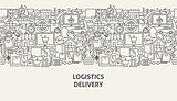 Logistics Delivery Banner Concept