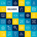 Vector Delivery Line Icons