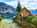 Hallstatt Austria traditional wooden austrian house
