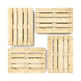 Wooden Euro pallets. Top view. 3D