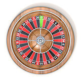 Roulette wheel. Top view. 3D
