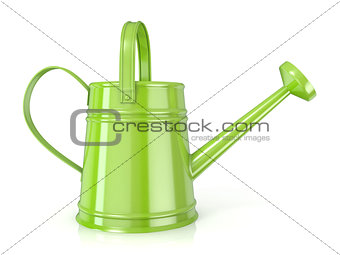 Green watering can 3D Side view