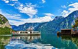 Hallstatt Austria walking travelling boat arriving