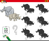 shadows activity game with wild animals