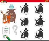 shadows activity game with animal characters