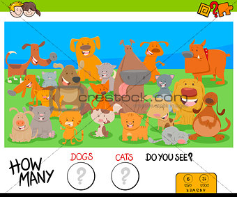 counting dogs and cats educational game for kids