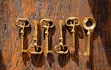 6 brass keys