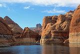 Beautiful Red Rock Formations on Lake Powell, Arizona, USA