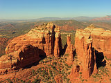 Aerial view of Sedona from a helicopter