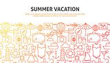 Summer Vacation Web Concept