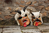Masks of bulgarian traditional Festival of the Masquerade Games