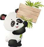 Cute Panda bear illustrations