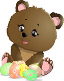 beautiful Easter bear