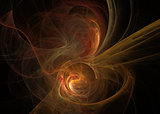 Orange fractal. Abstract background element