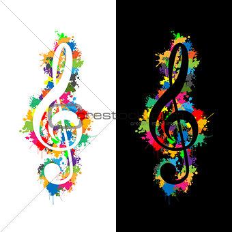 Colorful violin key