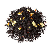 Black tea with orange peels.