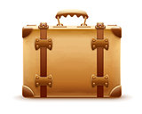 Retro suitcase. Luggage bag for travel. Vector