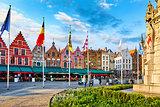 Bruges Belgium central market square