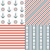 Nautical seamless patterns
