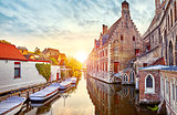Bruges Belgium medieval ancient houses