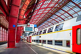Antwerp Belgium central railroad railway station covered