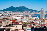 Scenic view of the city of Naples, Italy