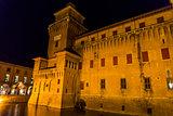 The Estense castle in Ferrara