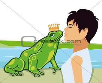 Kiss the Frog Prince illustration