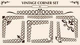Vintage corner set