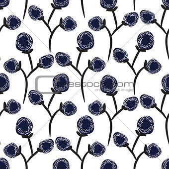Floral contrast seamless pattern design.