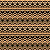 Art deco black and gold geometric style pattern.