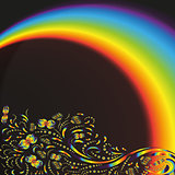 Pattern on the background with a rainbow