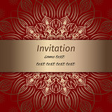 Invitation in red and gold colours