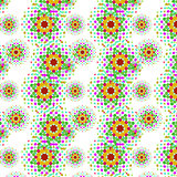 Seamless pattern with floral abstract elements