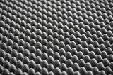 Detail of Acoustic Foam in Recording Studio