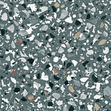 Terrazzo flooring vector seamless pattern